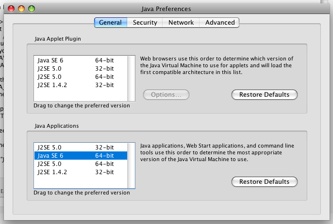 Java Preferences: Java 6 2nd